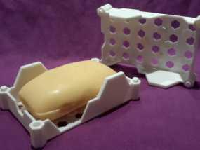 蜂巢形肥皂盒 3D模型