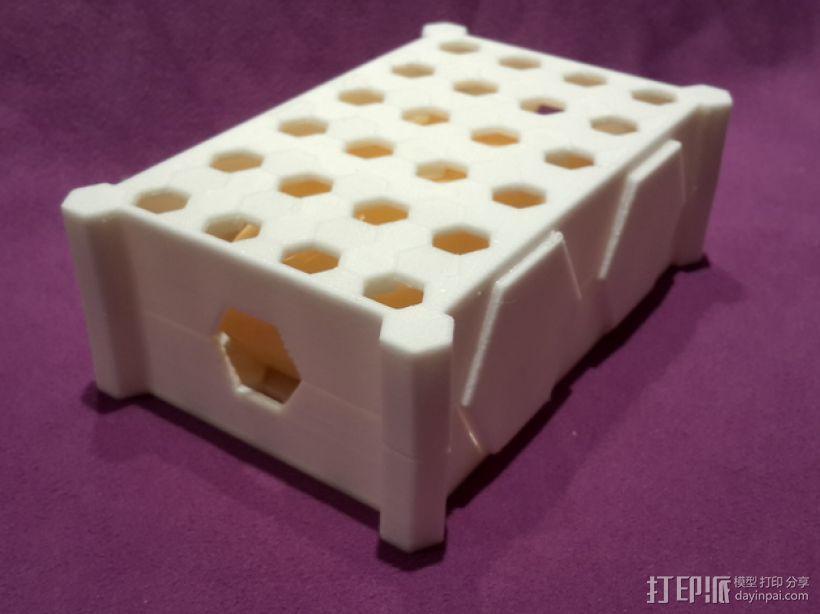 蜂巢形肥皂盒 3D模型  图3
