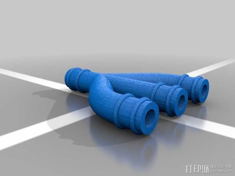 ID管道分离器 3D模型  图2