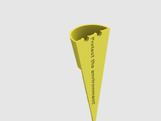 便携式烟灰缸 3D模型  图4