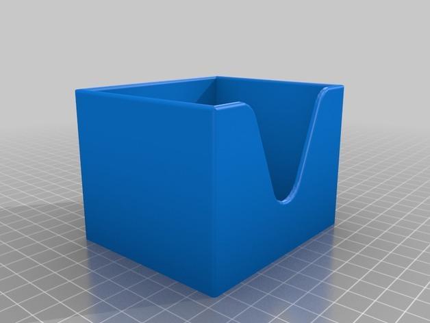迷你棉签盒 3D模型  图1