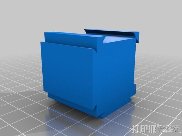可扩展的方形小盒 3D模型  图3