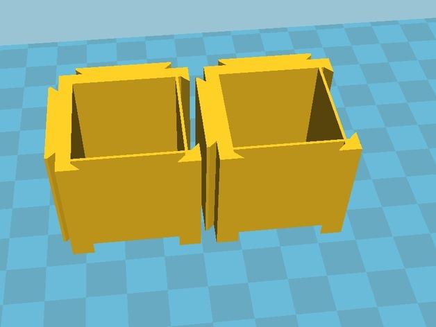 可扩展的方形小盒 3D模型  图2