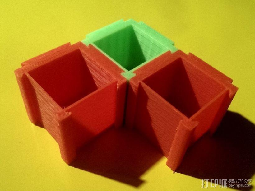 可扩展的方形小盒 3D模型  图1