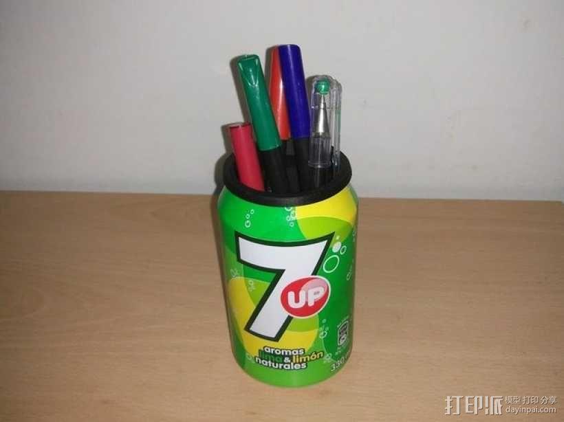 易拉罐笔筒 3D模型  图2