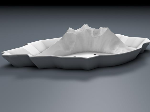 """""""岩石""""盆栽盆 3D模型  图2"""