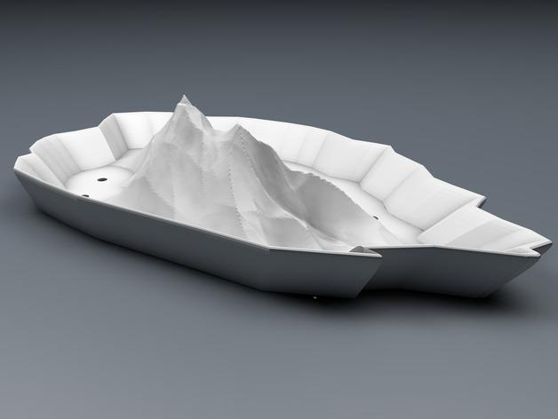 """""""岩石""""盆栽盆 3D模型  图1"""
