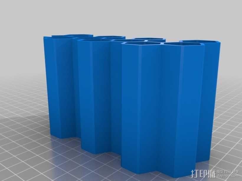 模块化蜂巢形移动设备架 3D模型  图4