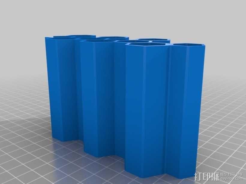 模块化蜂巢形移动设备架 3D模型  图5