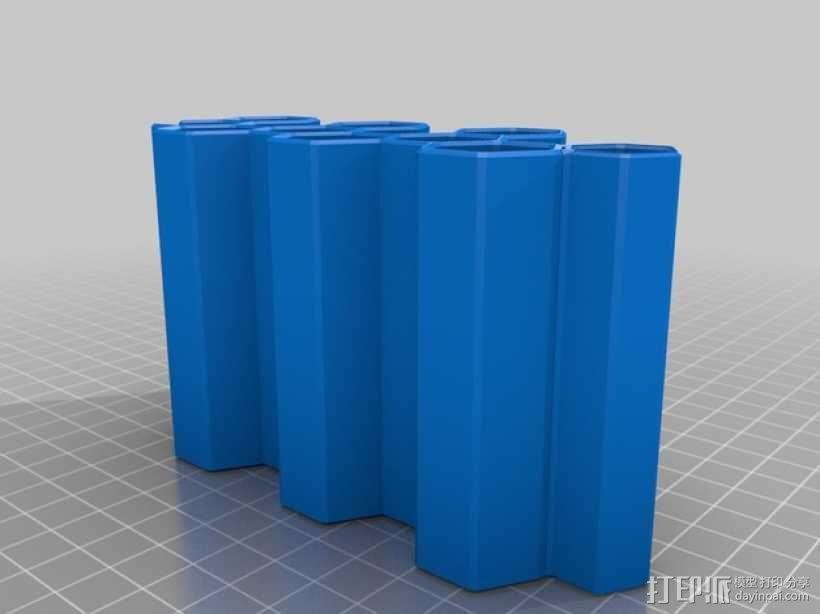 模块化蜂巢形移动设备架 3D模型  图7
