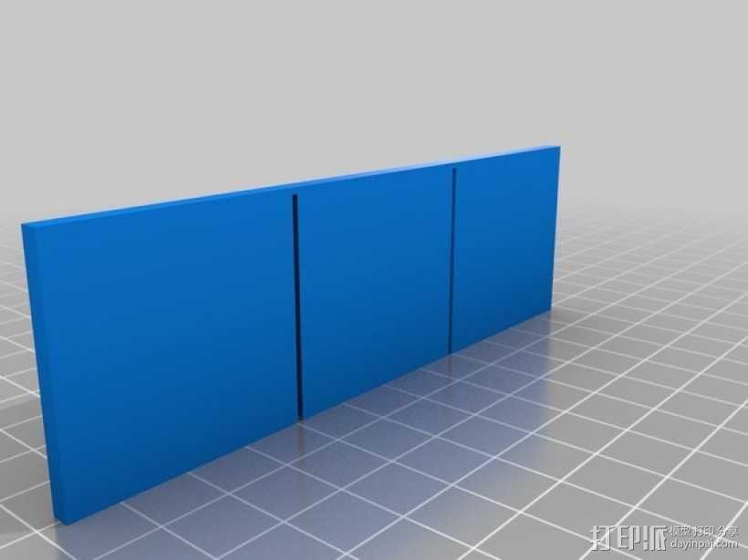 参数化OBI盒子分隔板 3D模型  图2