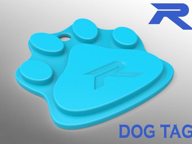 小狗狗牌 3D模型  图1