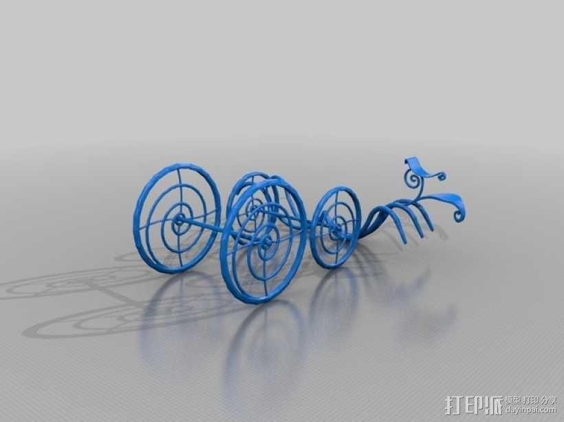 梦幻马车装饰品 3D模型  图2