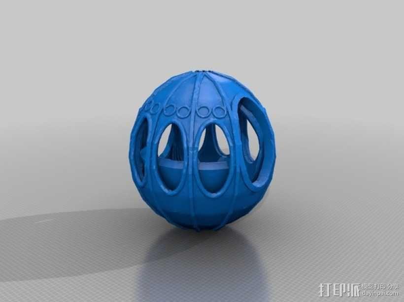 梦幻马车装饰品 3D模型  图3