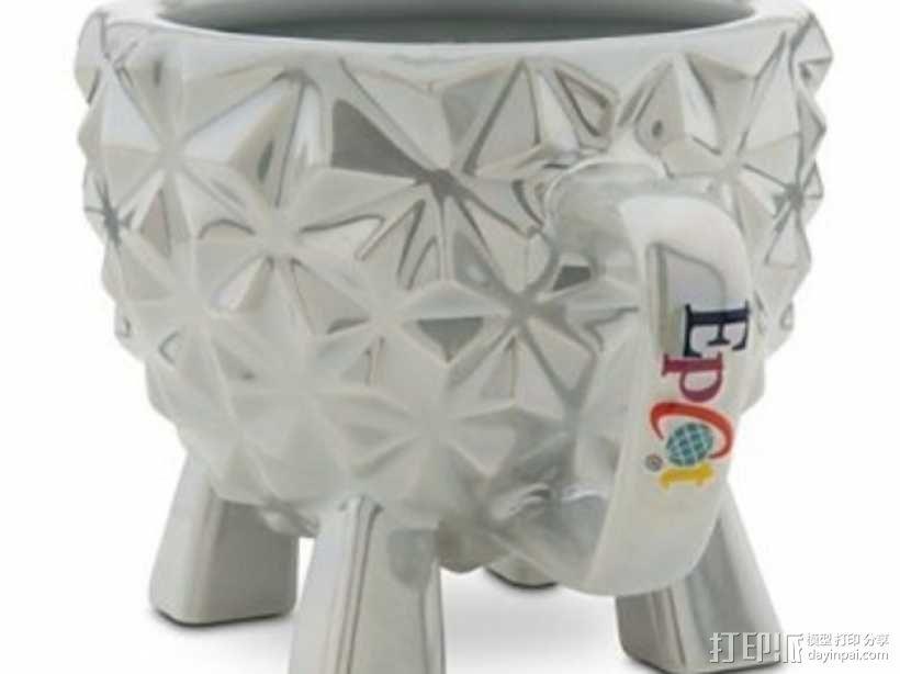迪士尼EPCOT水杯/马克杯 3D模型  图2