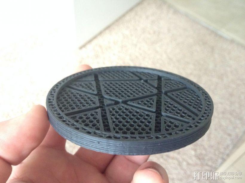 咖啡杯杯垫 3D模型  图1