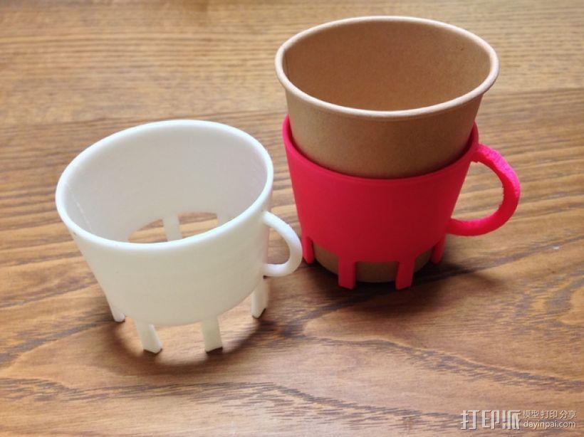 纸杯杯架 3D模型  图1