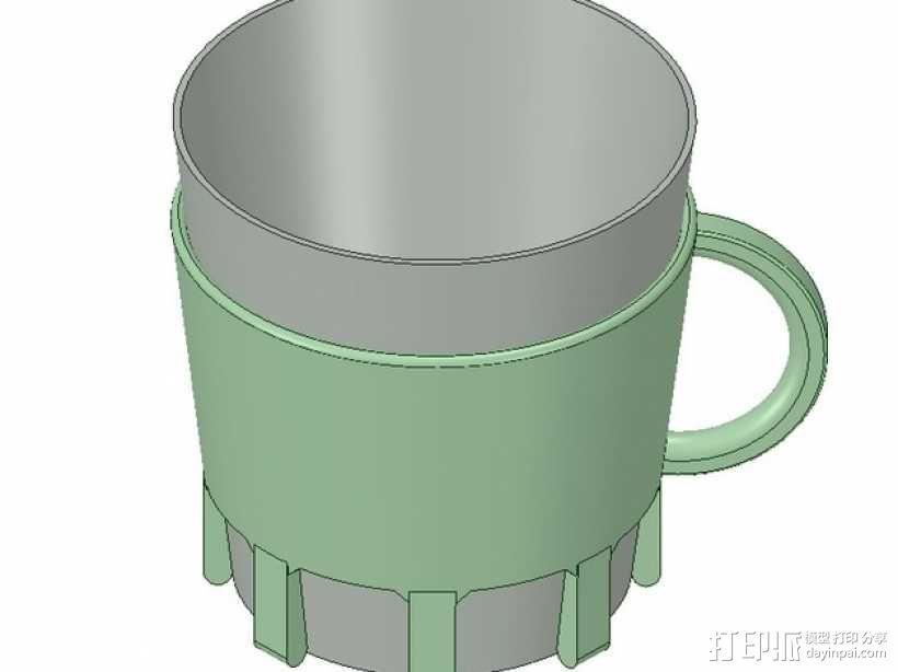 纸杯杯架 3D模型  图3