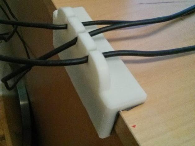 简易USB线缆夹 3D模型  图1