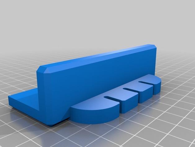 简易USB线缆夹 3D模型  图2