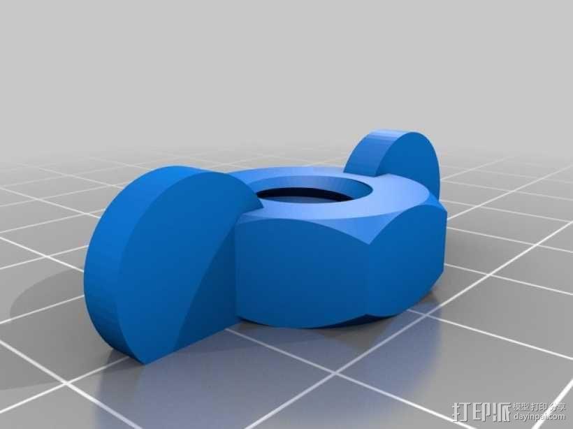 抽水马桶螺栓  3D模型  图2