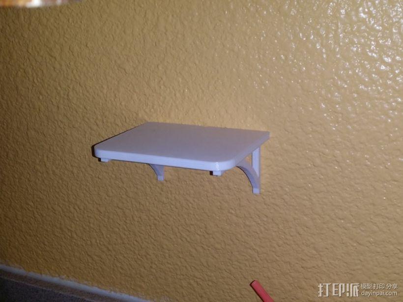 迷你壁挂式置物架 3D模型  图3