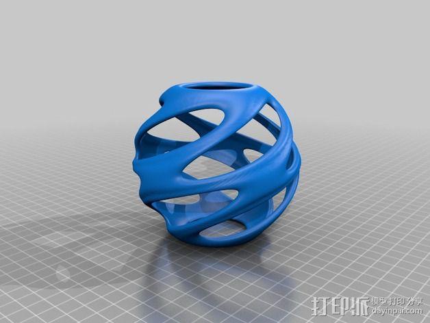 迷你螺旋结构装饰品 3D模型  图4