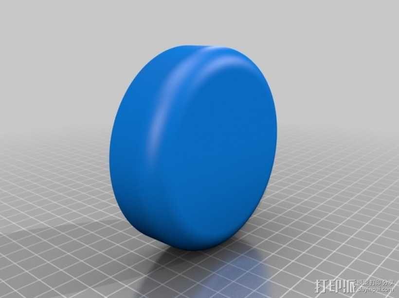 棉签盒 3D模型  图2