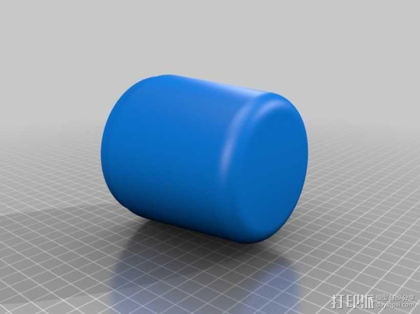 棉签盒 3D模型  图3