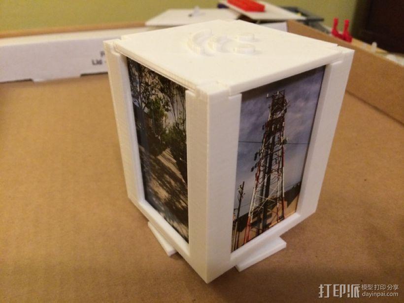 可旋转的照片盒 3D模型  图1