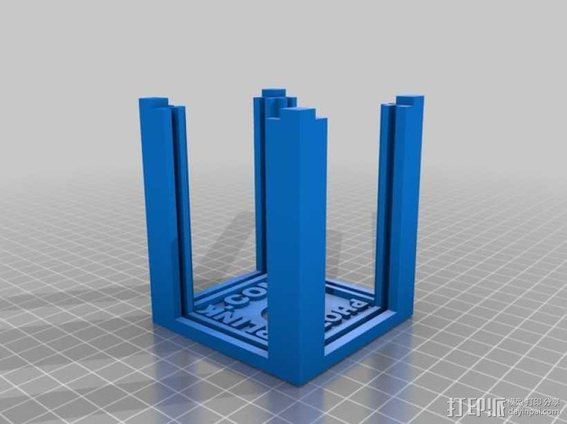 可旋转的照片盒 3D模型  图5