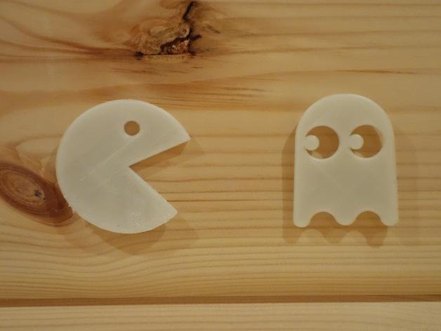 会发光的吃豆人/幽灵 3D模型  图2