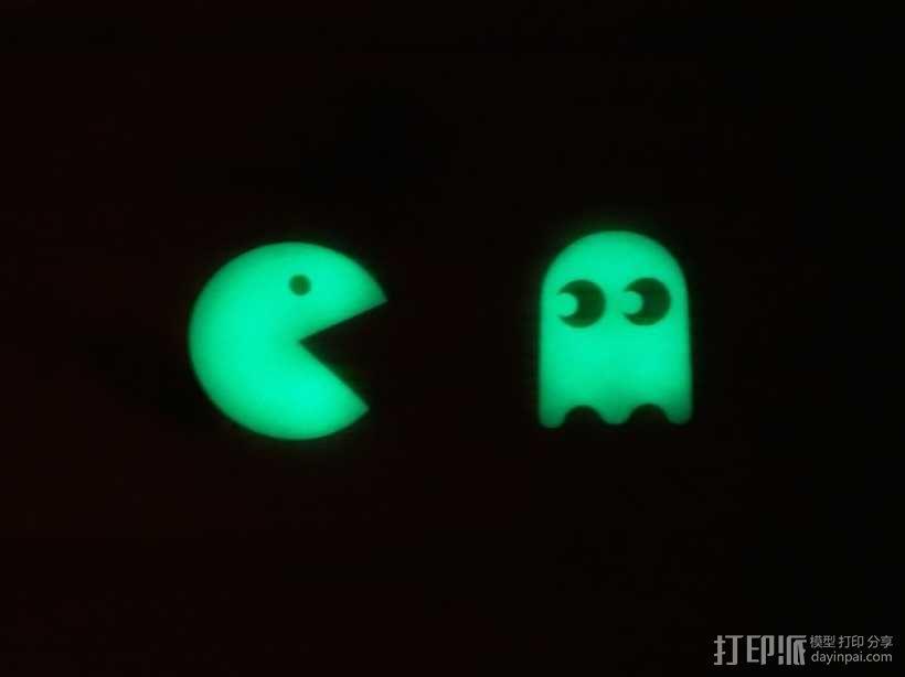 会发光的吃豆人/幽灵 3D模型  图3