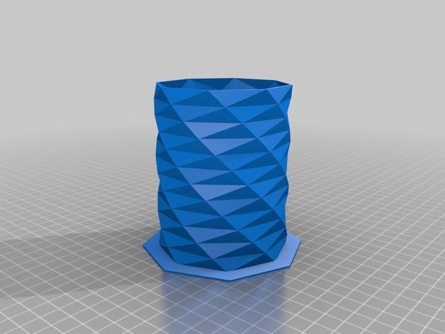 迷你八角形笔筒 3D模型  图2