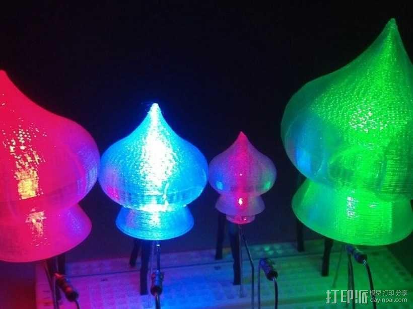 圣巴西尔大教堂穹顶形LED灯灯罩 3D模型  图1