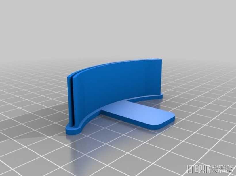 简易菜单夹/纸夹 3D模型  图3