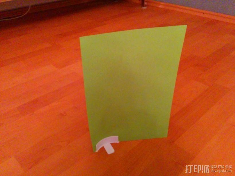 简易菜单夹/纸夹 3D模型  图1