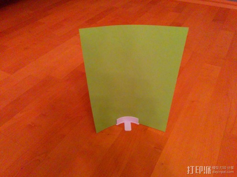 简易菜单夹/纸夹 3D模型  图5