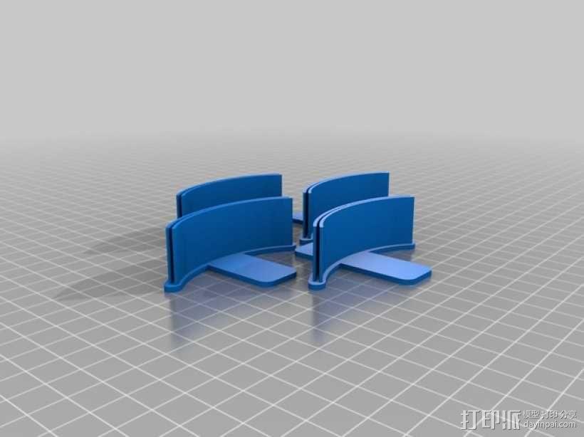 简易菜单夹/纸夹 3D模型  图4