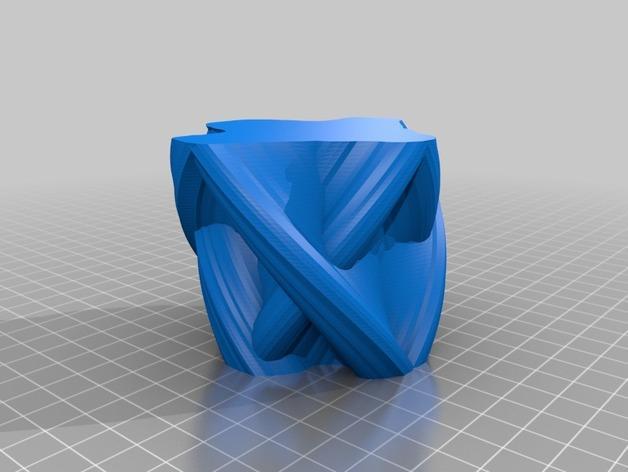 定制化自由风格花瓶 3D模型  图2