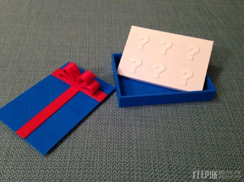 贺卡收纳盒/礼物盒 3D模型  图1