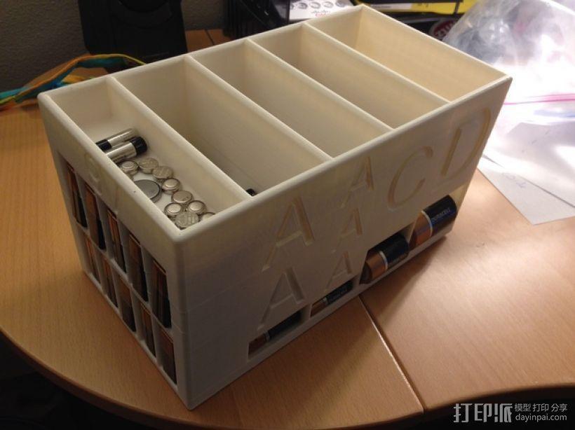大尺寸电池盒 3D模型  图1