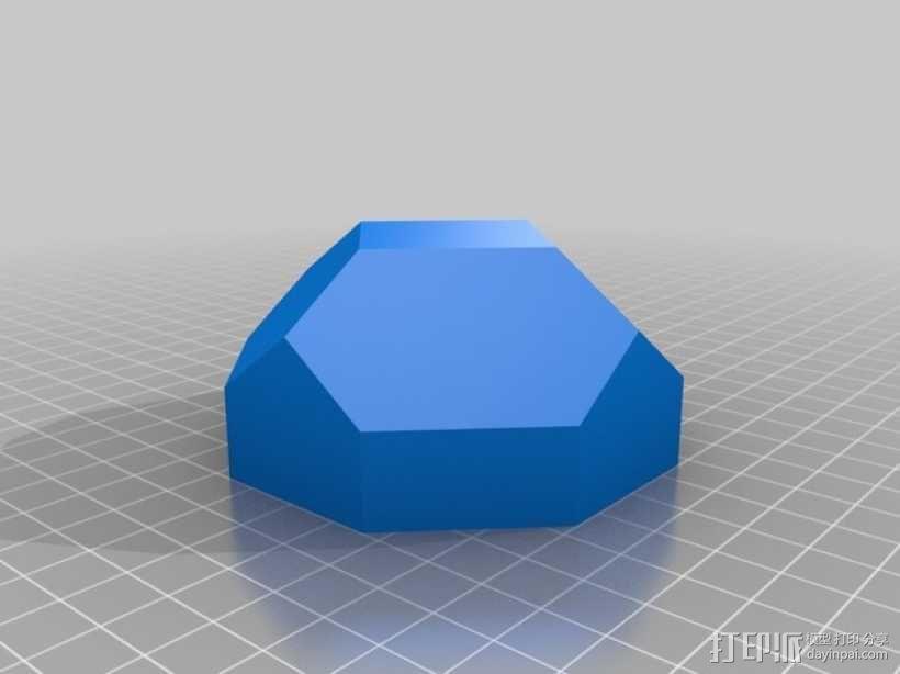 带盖的几何形盒子 3D模型  图2