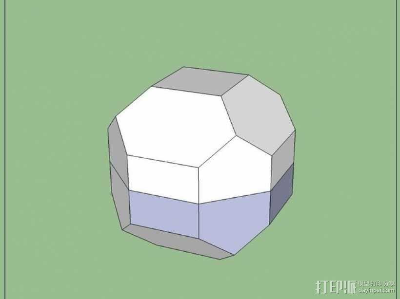 带盖的几何形盒子 3D模型  图6