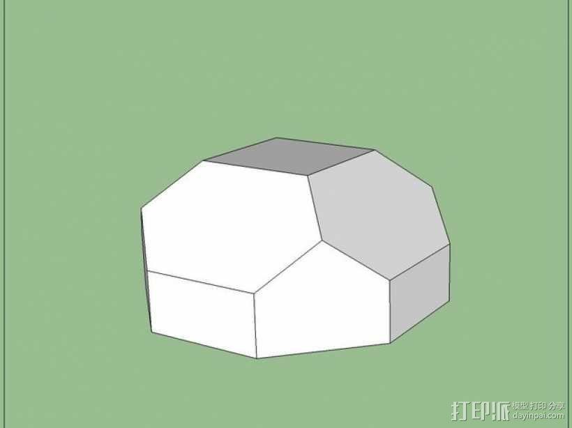带盖的几何形盒子 3D模型  图5