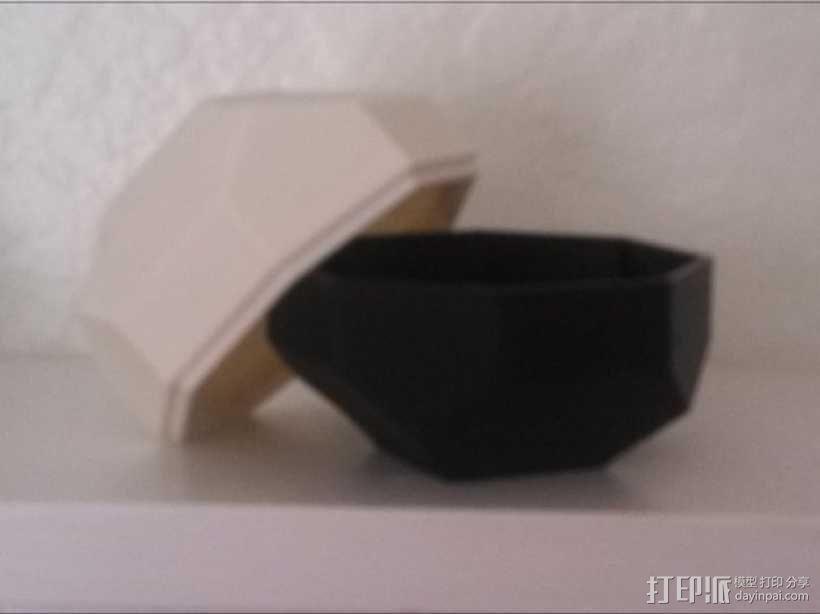 带盖的几何形盒子 3D模型  图8