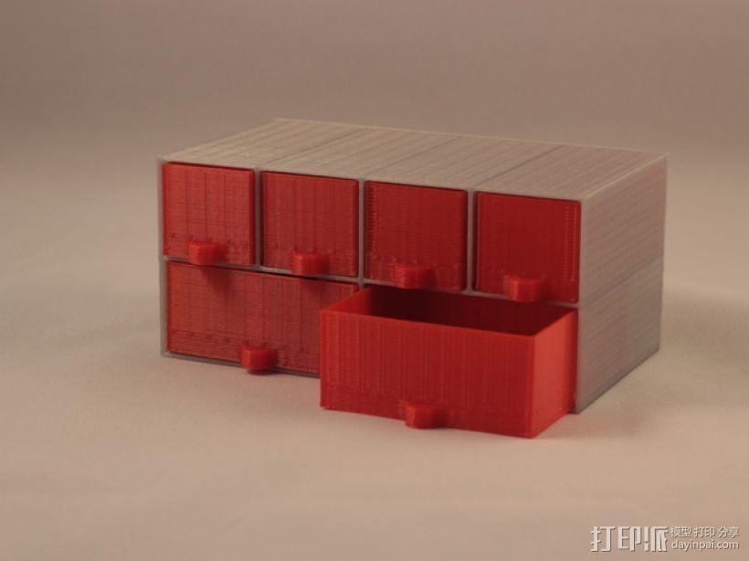 定制化迷你储物抽屉V1.6 3D模型  图1