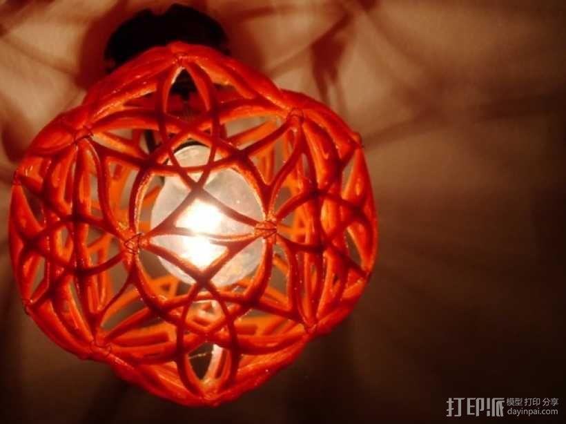 十二面体镂空灯罩 3D模型  图2
