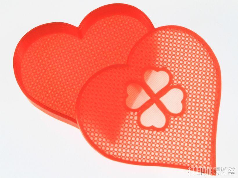 情人节礼物盒 3D模型  图1