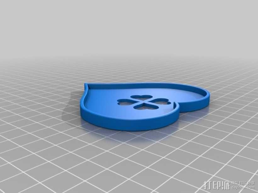情人节礼物盒 3D模型  图4
